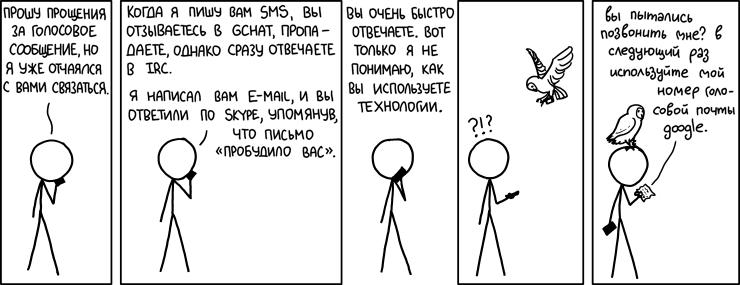 Предпочтительные системы общения