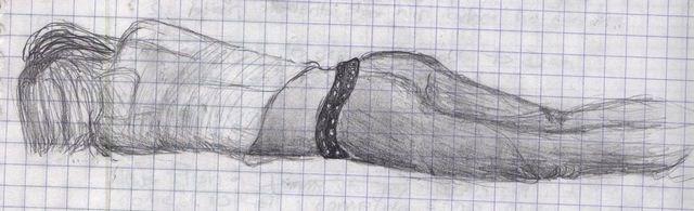 Спящая девушка (Набросок - 11-й класс, на уроке испанского)